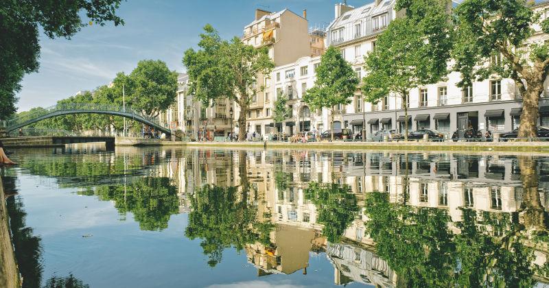 canal saint-martin i Paris